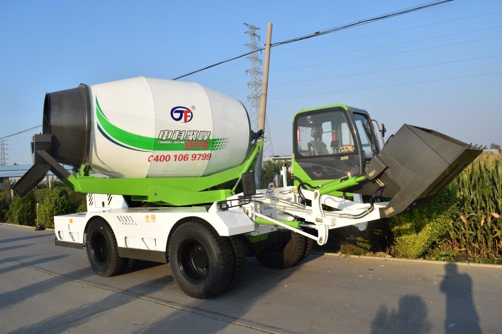 4.2方铰接式双向行驶小型混凝土搅拌车